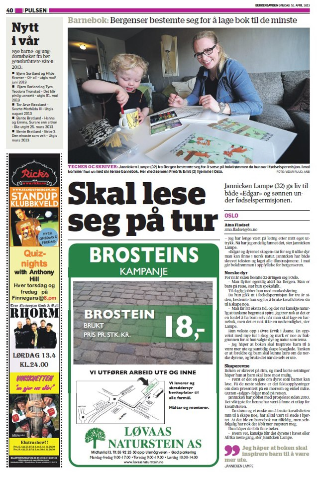 Bergens Avisen - 10.April 2013