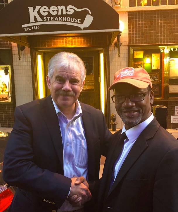 Award-winning New York sportswriter and New York Times bestselling author Wayne Coffey (left)