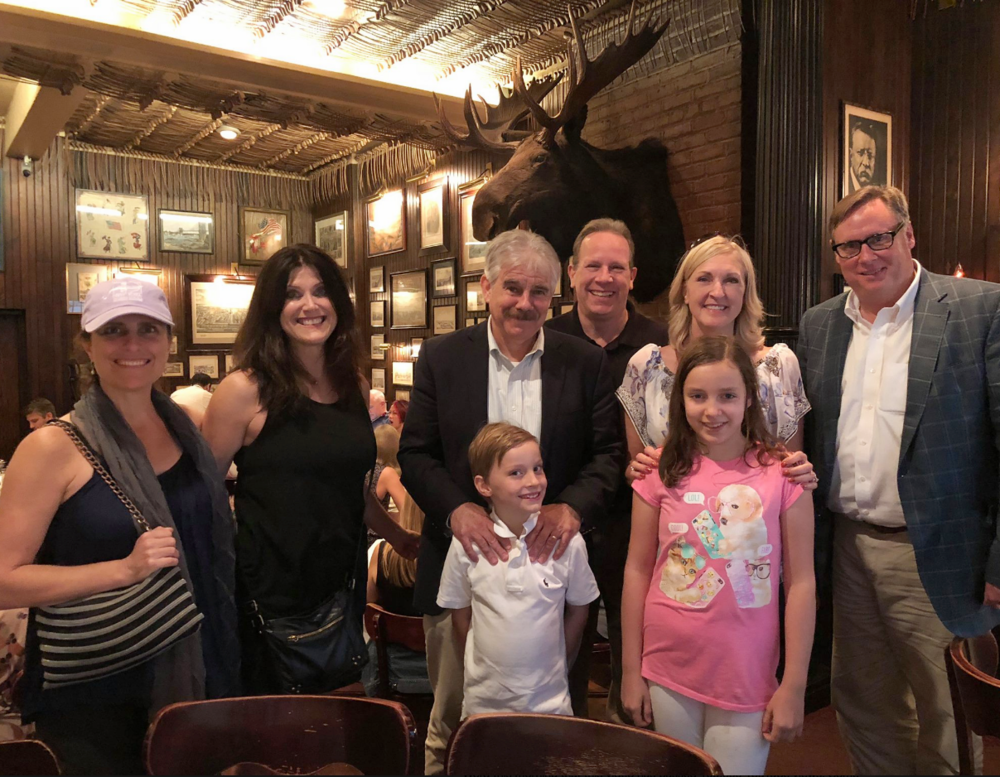 Most of New York Sports Tours' mid-tour lunches and dinners are hosted in Keens Steakhouse's historic Bull Moose Room, where many legendary sports figures have dined.