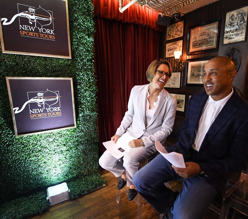 Mary Carillo and John Starks