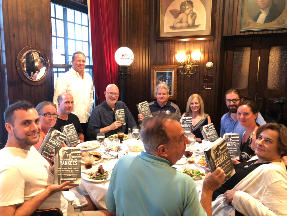 T he Pride of the Yankees  author Richard Sandomir (third from left)