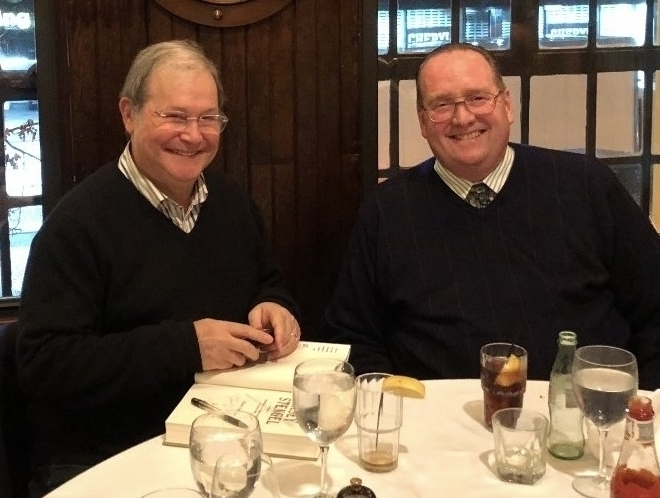 During the two New York Sports Tours outings in 2017 that included dinner with host Marty Appel (left), each tour guest received a complimentary copy of Appel's 2017 book  Casey Stengel: Baseball's Greatest Character.