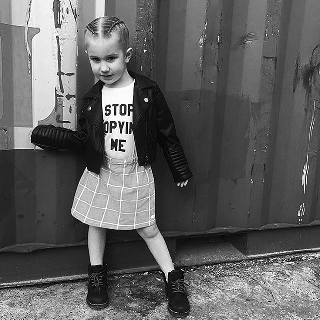 ➕STOP COPYING ME➕ Good morning, lil hommes! We're loving this adorable shot of @dahlia_dresses_up in her Baby Beast #StopCopyingMe tee. Love her rad attitude! (Purchased at official Australian BB stockist @heylittle_store.) #babybeast #lilhomme #beastmode #microfashion #madeinla #americanmade #dtla #hypebeast #hypebeastkids #highsnobiety #lilsnob #minilicious #complexmag #streetstyle #streetnotoriety #streetfashion #hipkidfashion #kidzootd #trendykiddies #ethicallymade #monochrome  #streetwear #monochrome_kids #kidsstyle