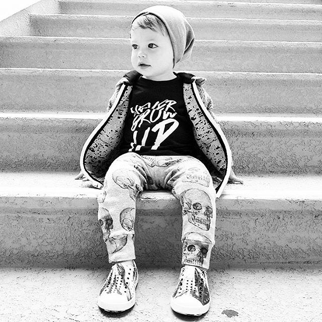 ➕NEVER GROW UP➕ Love love loving this ultra rad shot @audiesjam in his Baby Beast #NeverGrowUp tee. As always, supersoft and made with love in the USA. 🖤
