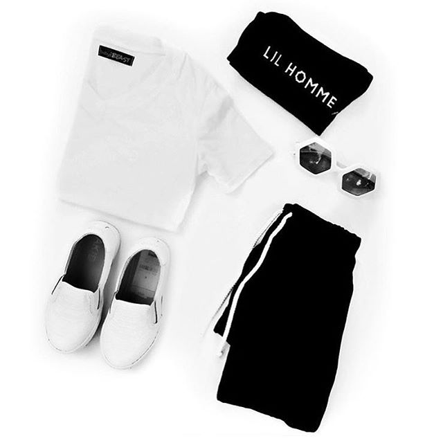 ➕LIL HOMME ESSENTIALS➕ We're all about not conforming to traditional childrenswear, but there are definitely a few staple pieces that make getting dressed a little easier in the morning. 1.) Supersoft Cotton Basics- We're not one for bragging, but we think our essential v-necks have to be the softest, best fitting tees out there in the children's industry. They go with absolutely every and everything, and are the perfect base to layering this fall. 2.) Joggers- Our organic joggers are not only ultra comfy, they are dressed up effortlessly with a bomber jacket and an awesome pair of kicks. 3.) Sunglasses- Every #LilHomme needs some rad shades, and @wearesonsanddaughters are some of our favorites! 4.) Baby Beast Socks- Anything but basic, our socks are the perfect accessory to give a streetwear edge. #babybeast #lilhomme #beastmode #microfashion #madeinla #americanmade #dtla #hypebeast #hypebeastkids #highsnobiety #lilsnob #minilicious #complexmag #streetstyle #streetnotoriety #streetfashion #hipkidfashion #kidzootd #trendykiddies #ethicallymade #monochrome  #streetwear #monochrome_kids #kidsstyle #detroit #detroitmichigan #puremichigan #puremitten