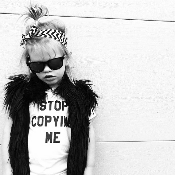 ➕STOP COPYING ME➕ Loving this rad shot of @sneaky_andthe_tbird in her Baby Beast #StopCopyingMe tee! 🙌🏼 (Shoutout to our official Australian/NZ stockist @heylittle_store 🖤) #babybeast #lilhomme #beastmode #microfashion #madeinla #americanmade #dtla #hypebeast #hypebeastkids #highsnobiety #lilsnob #minilicious #complexmag #streetstyle #streetnotoriety #streetfashion #hipkidfashion #kidzootd #trendykiddies #ethicallymade #monochrome  #streetwear #monochrome_kids #kidsstyle #detroit #detroitmichigan #puremichigan #puremitten