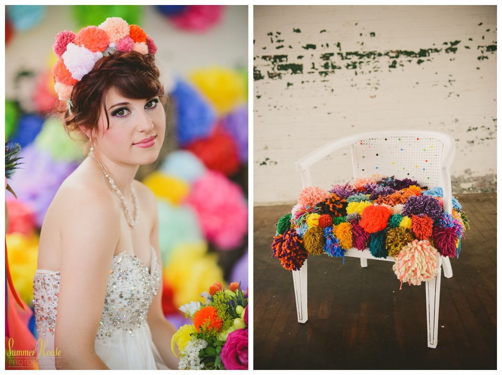 pom pom wedding