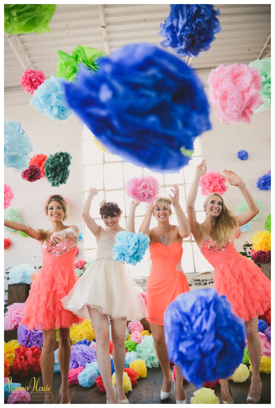 fun colorful wedding