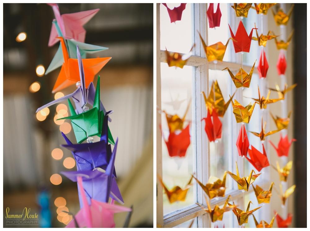 paper crane wedding