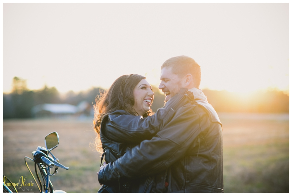 motorcycle engagement photography