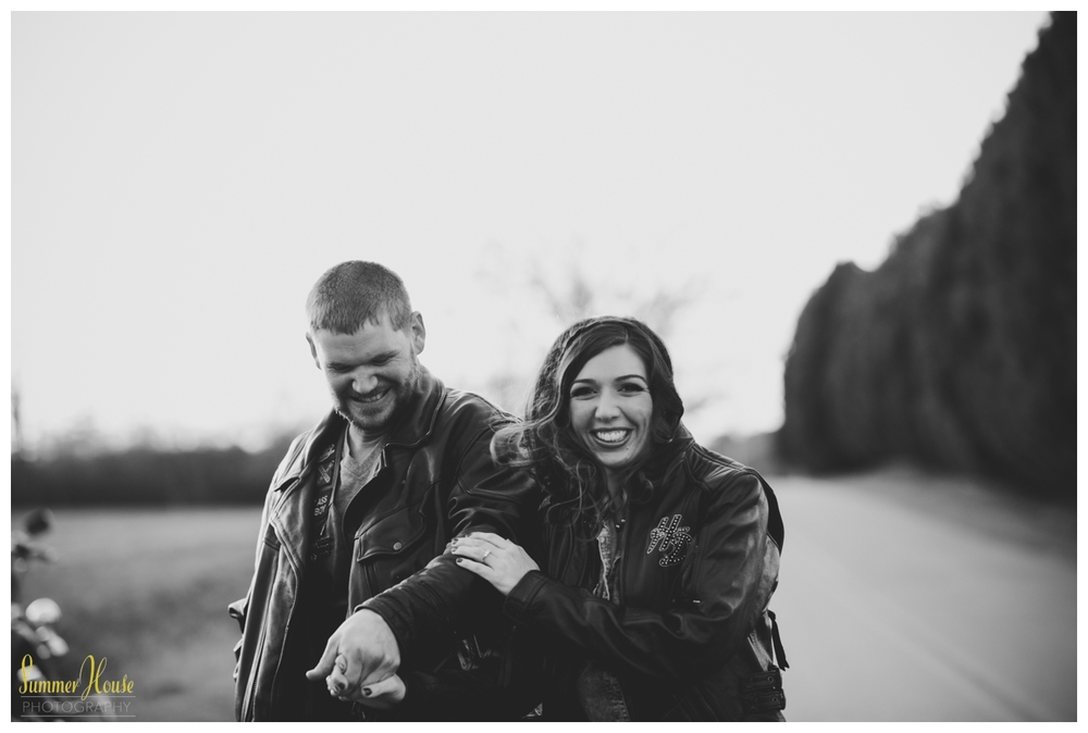 harley davidson engagement pictures
