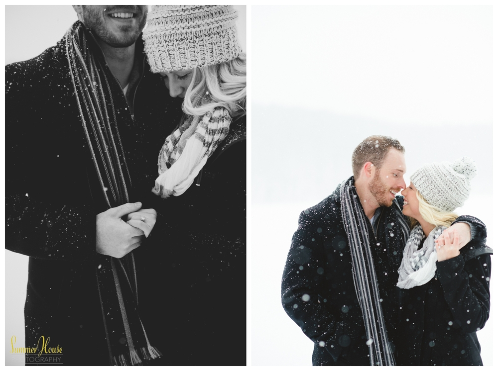 winter engagement session pensylvania
