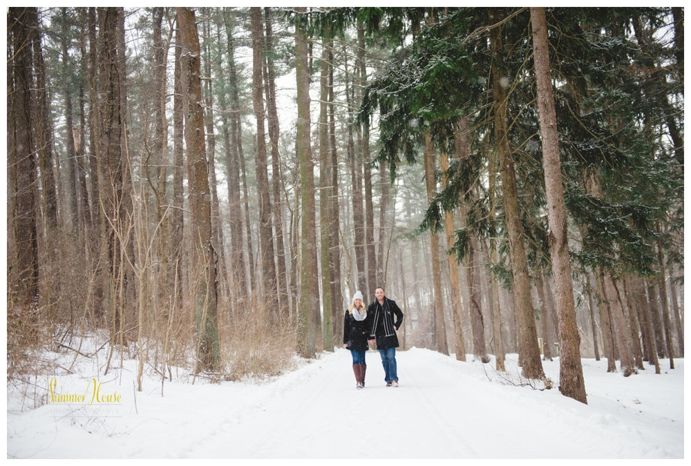 snow winter engagement session york pa