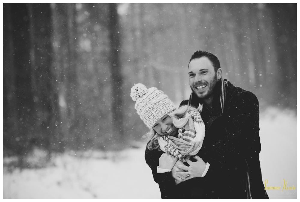 winter engagement session pennsylvania