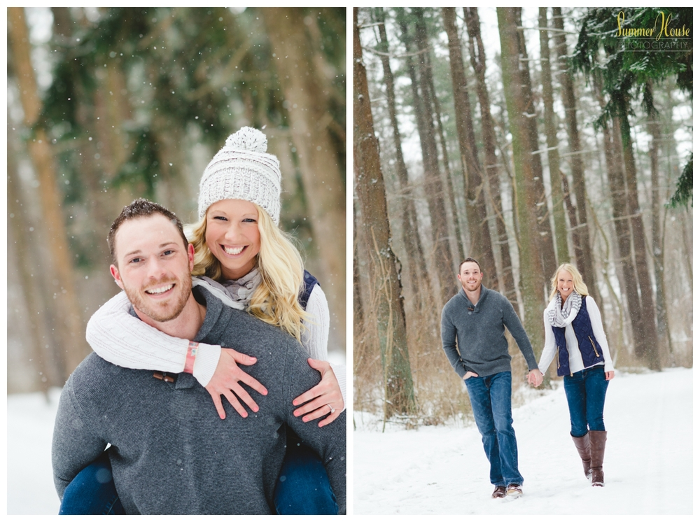 pennsylvania winter snow engagement session