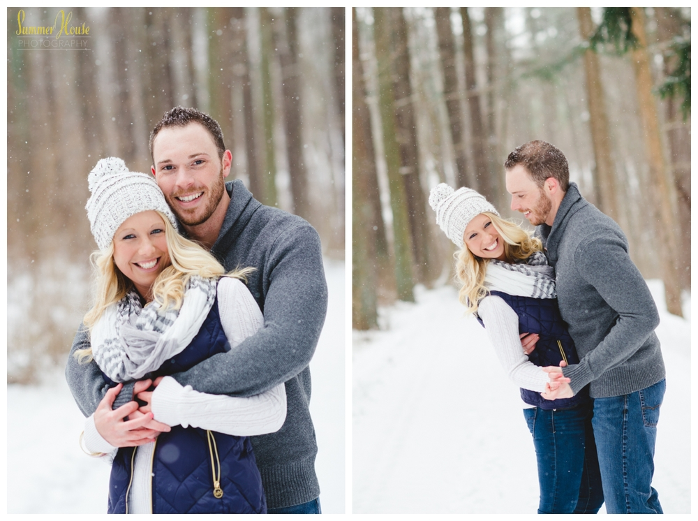 winter snow engagement pictures