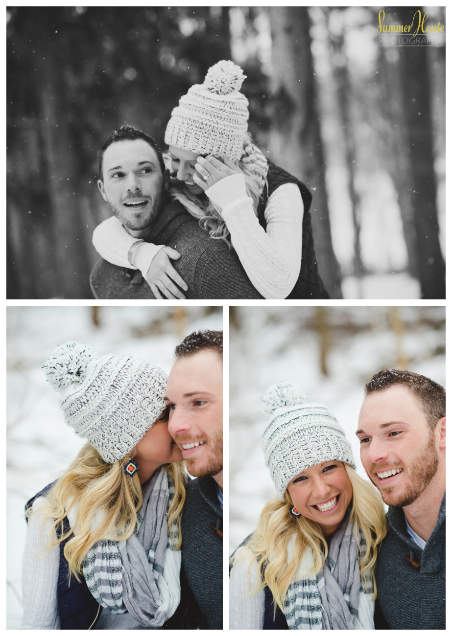 winter snow engagement pictures pennsylvania wedding photographer