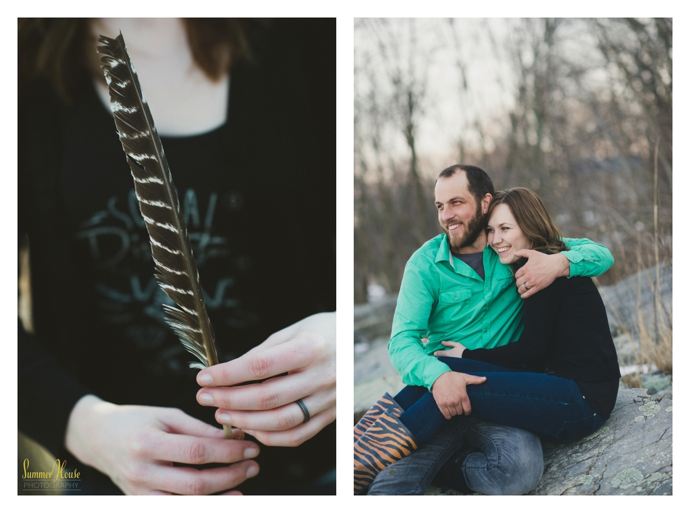 Lancaster pa engagement woods