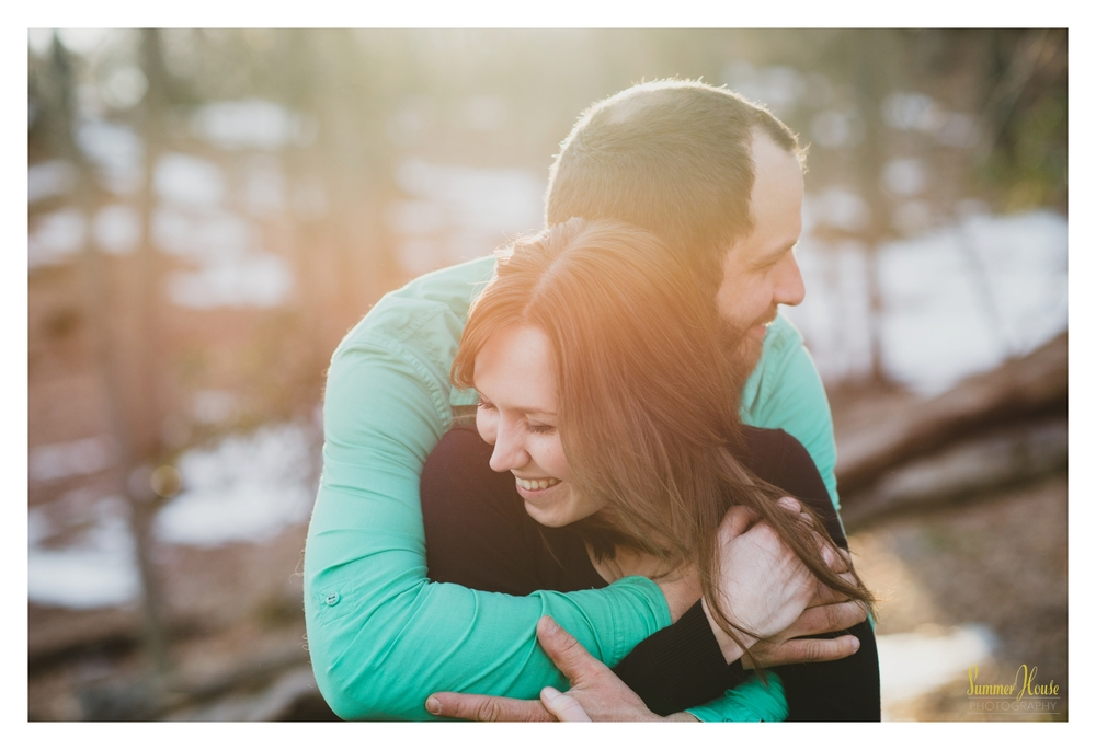 lancaster pa woodland engagement photography
