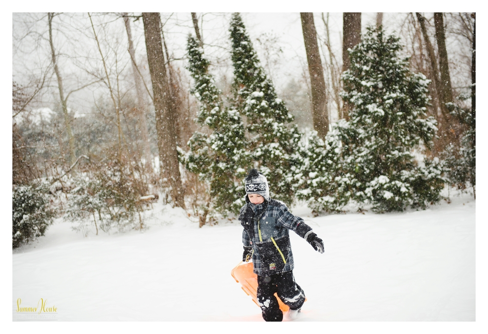 pennsylvania adventure family photography snow