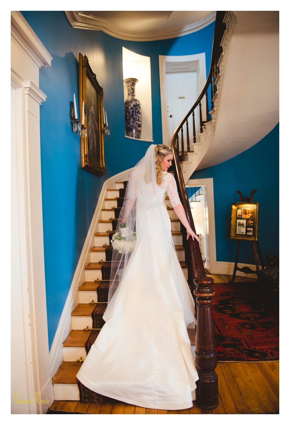Maryland estate wedding bride
