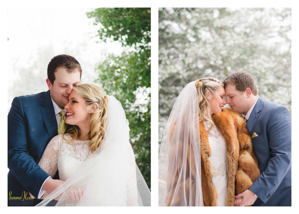 winter wedding maryland estate