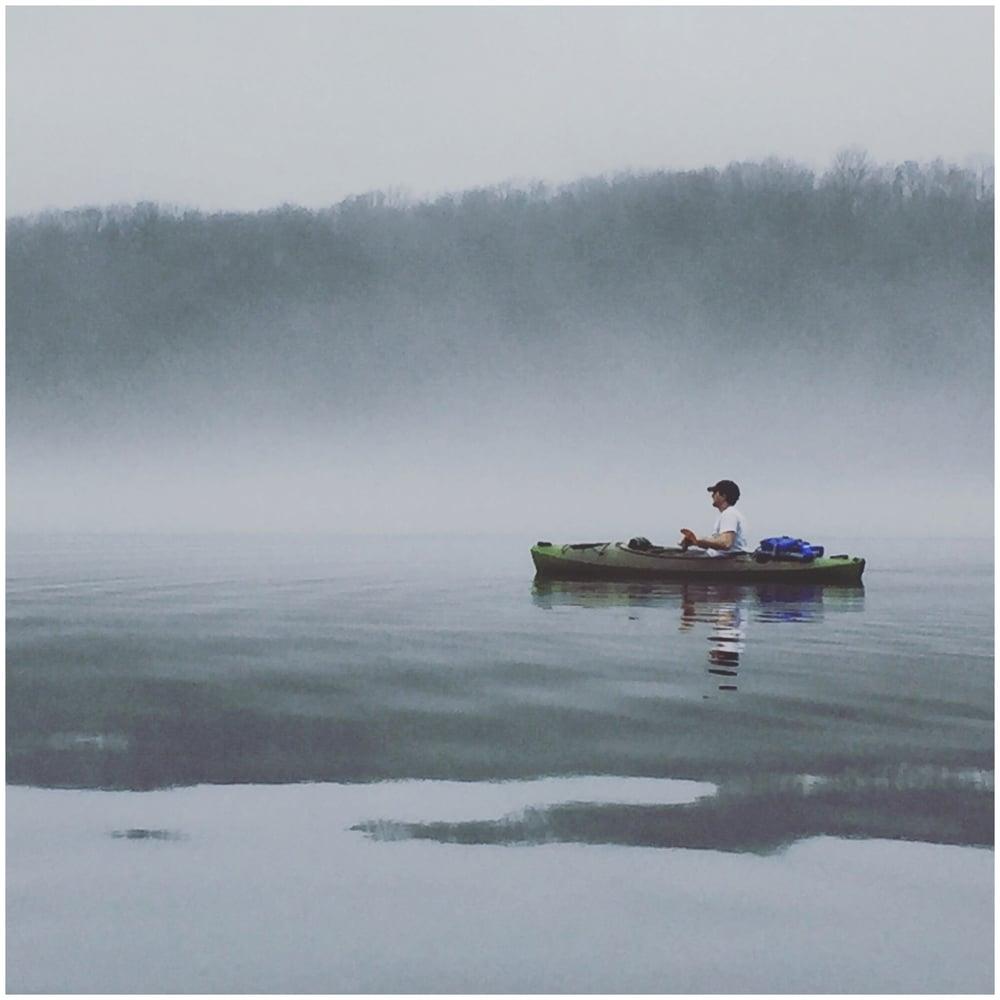 Kayaking on Christmas morning
