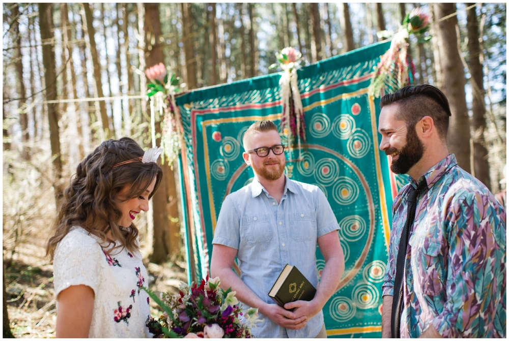 California elopement in woods
