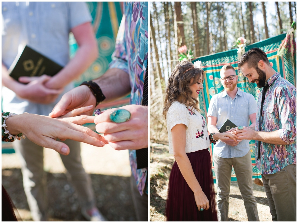 woodland wedding inspiration ceremony