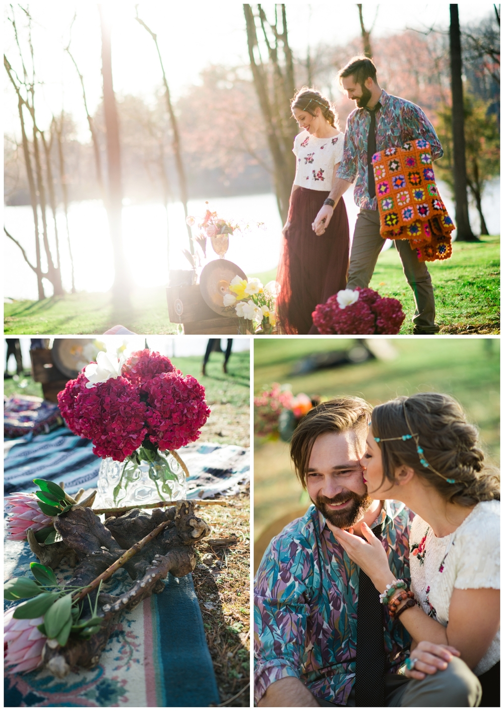 boho woodland elopement