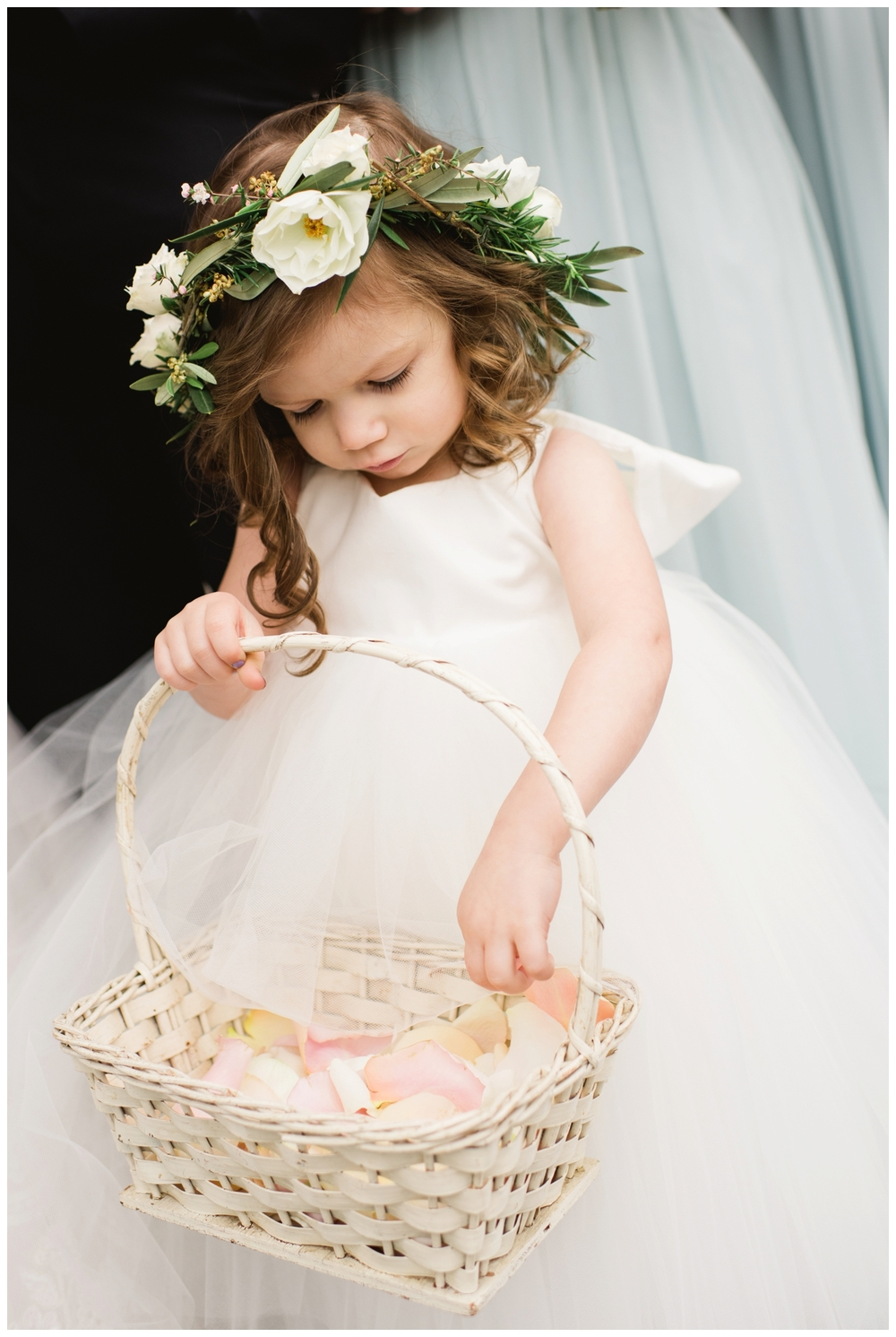 summer flower girl wedding