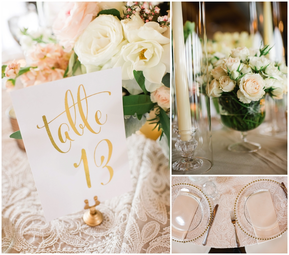 rose gold and pink wedding