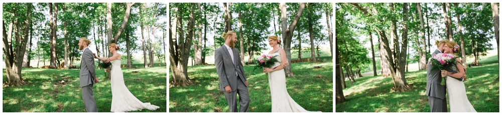first look photos farm wedding