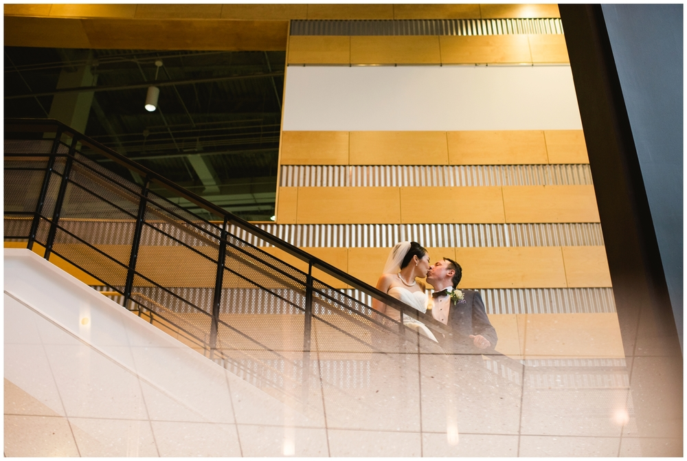 Science center wedding