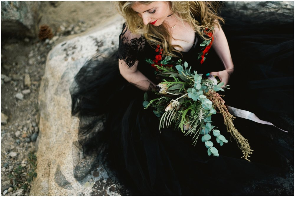 black wedding dress inspiration
