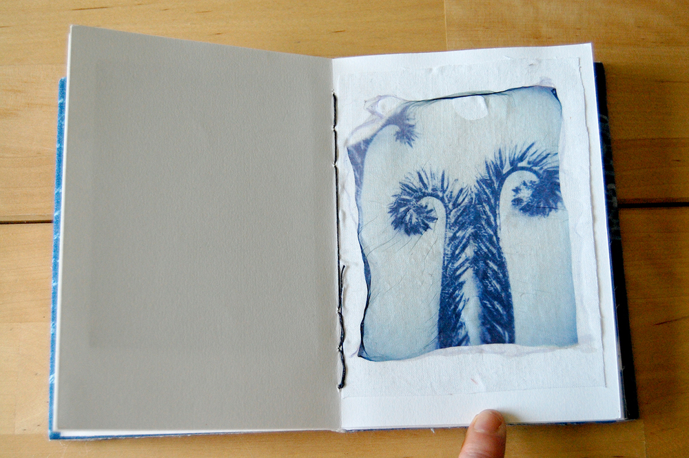 polaroid emulsion transfer on cotton.
