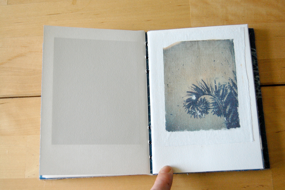 polaroid transfer print on cotton.