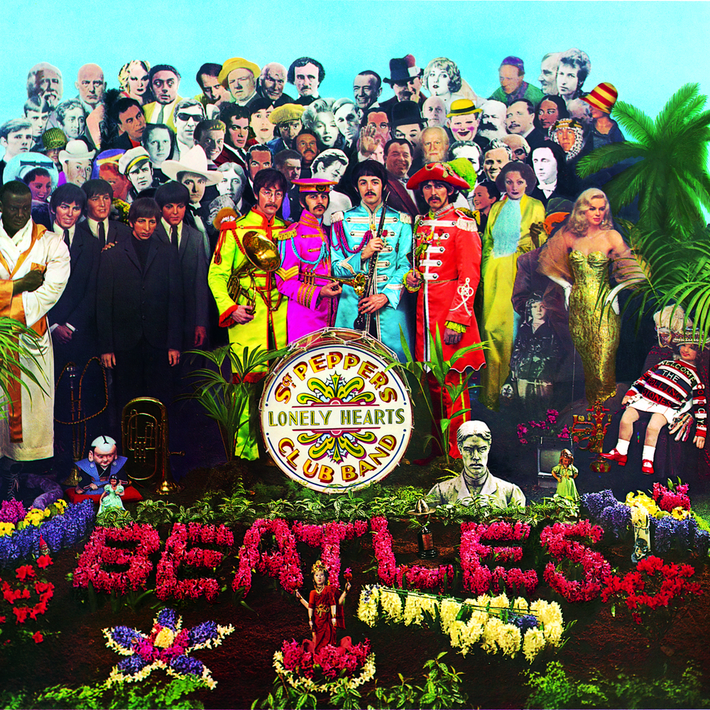 THIS IS SURE TO MAKE A LOT OF LISTS FOR 'BEST ALBUM ART OF ALL TIME,' BUT WE LIKE IT ALL THE SAME. SGT. PEPPER'S LONELY HEART CLUB WAS AN EXPERIMENT IN ART DIRECTION AND CONCEPT DESIGN THAT TOOK STEPS TOWARDS CREATING THE KIND OF ILLUSTRATED ART THAT WOULD DEFINE THE PSYCHEDELIC ERA OF THE 60S AND 70S. USING CUTOUTS OF MUSTACHES AND PAPER FIGURES, THIS EIGHT STUDIO ALBUM BY THE BEATLES WAS A WONDERFUL PIECE THAT SUSTAINED VIEWERS' ATTENTION BECAUSE THEY HAD SO MANY FACES AND PATTERNS TO LOOK AT IN THE CROWD SURROUNDING THE BAND. ICONIC COVERS ALSO DON'T COME CHEAP: THE WHOLE PROJECT ALSO ENDED UP COSTING 100 TIMES MORE THAN PREVIOUS ALBUMS AS WELL.