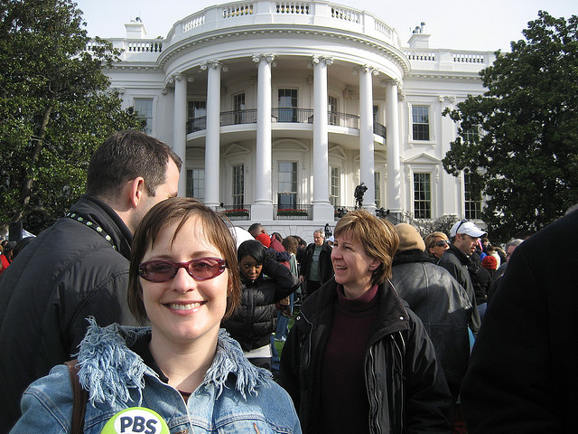 With pbs at the white house easter egg roll 2009