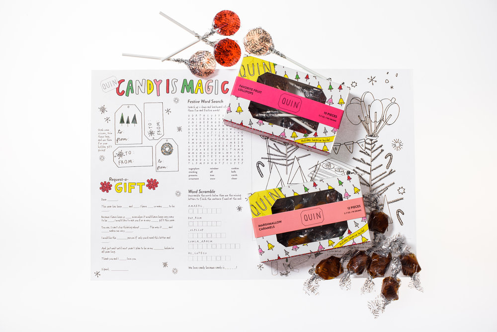 We are totally totally completely IN LOVE with our new holiday activity sheet!