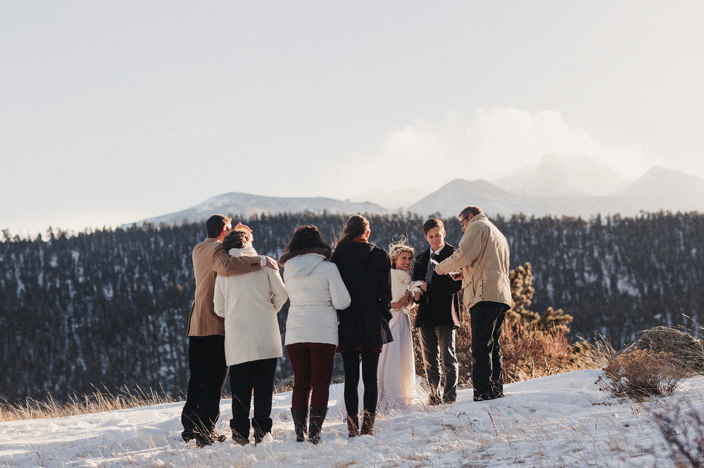 rocky mountain national park colorado elopement ceremony estes p