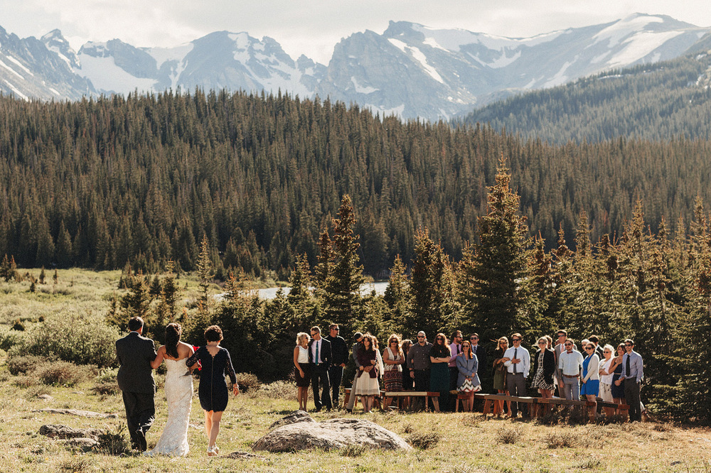 rocky mountain national park wedding photographer ceremony