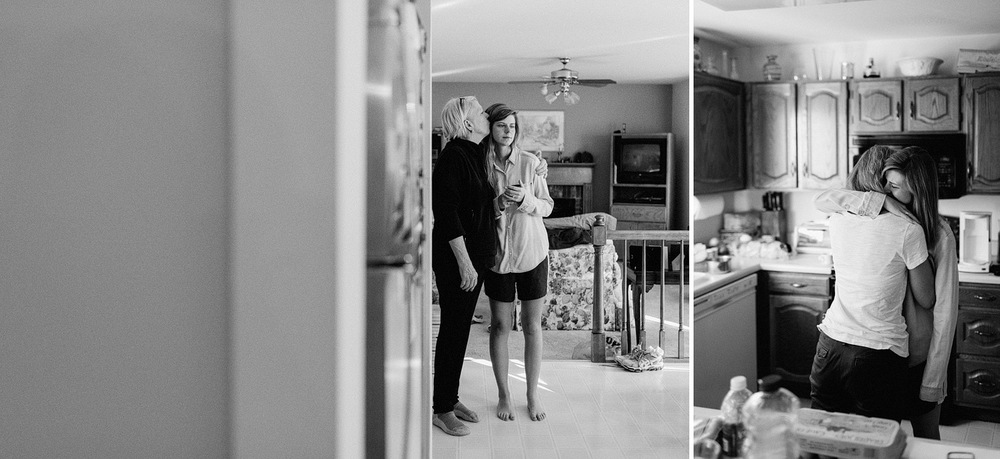 intimate moment mom daughter wedding photographer st louis