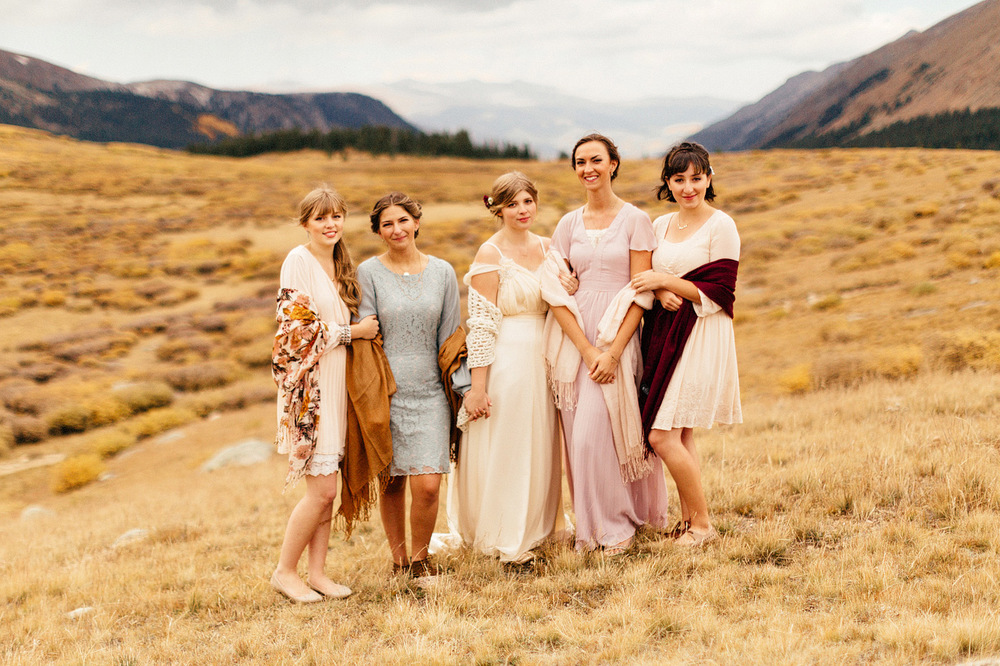 colorado rocky mountain national park bridesmaids