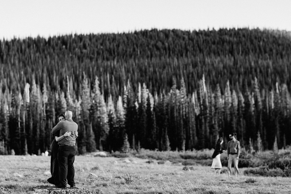 couples candid portrait mountains colorado wedding photographer