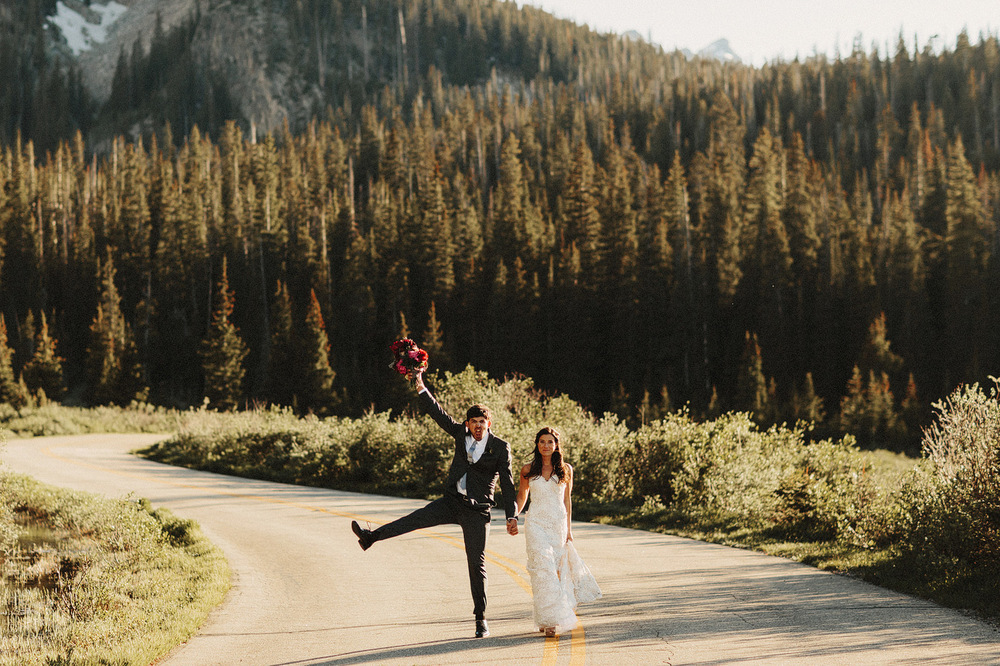 funny candid rocky mountain wedding photographer