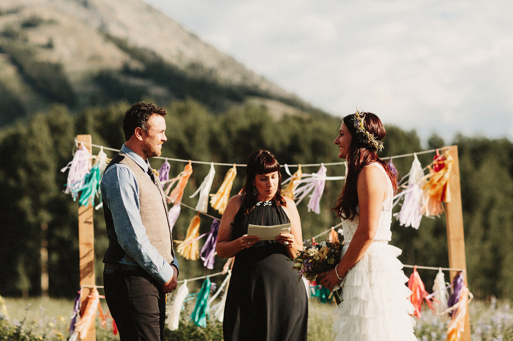 crested butte wedding photographer ceremony location rocky mount
