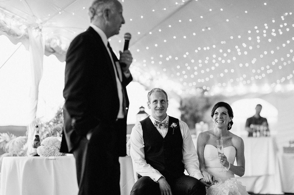 bride and groom father of the bride toast