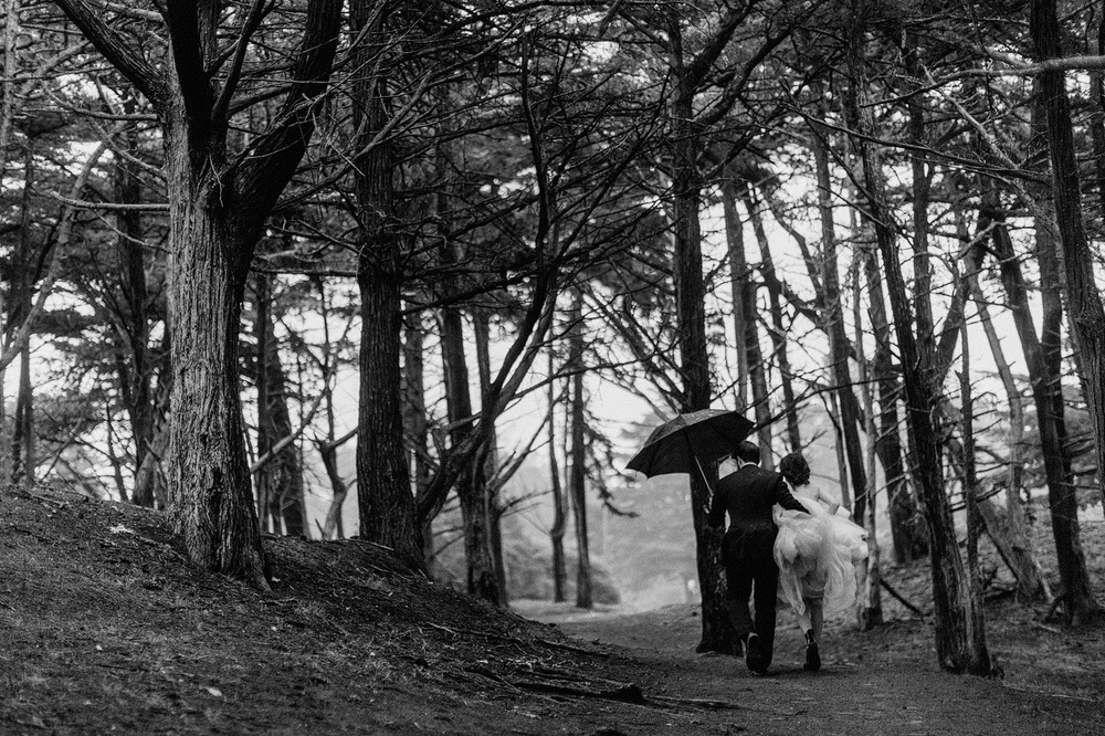 san francisco bride and groom cinematic moody