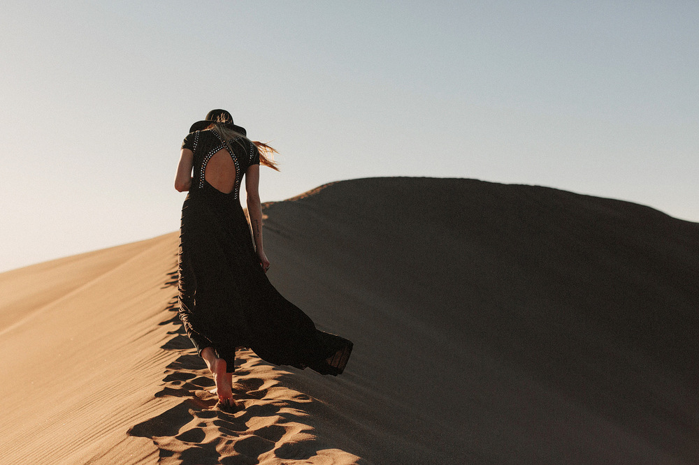 great sand dunes girl free people black dress